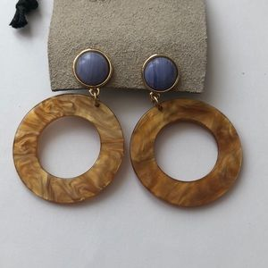 Urban Outfitters Saoirse Resin Drop Earrings Honey